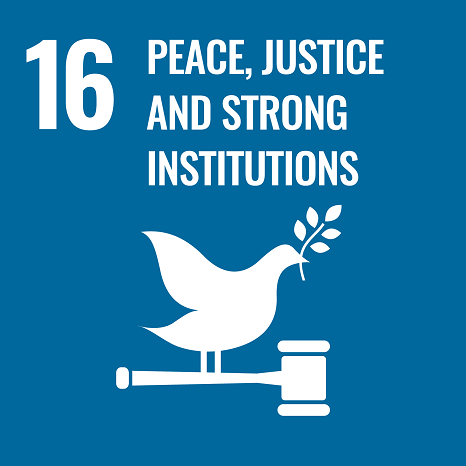 SDG 16 Peace and Justice Strong Institutions